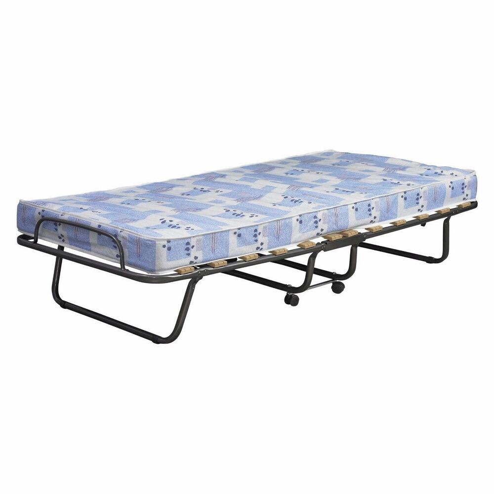 Mattress Cot Folding Metal Guest Bed Foldaway Steel Frame Mattress Cot Single Portable Travel Ebay