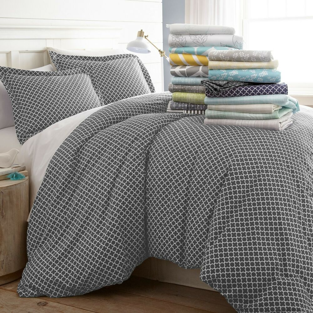 Patterned Duvet Cover Hotel Luxury 3 Piece Patterned Duvet Cover Sets 8 Beautiful Designs Ebay