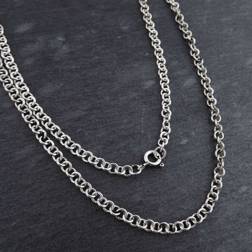 Rollo 24 Sterling Silver 3 5mm Rolo Chain Rollo Necklace 16