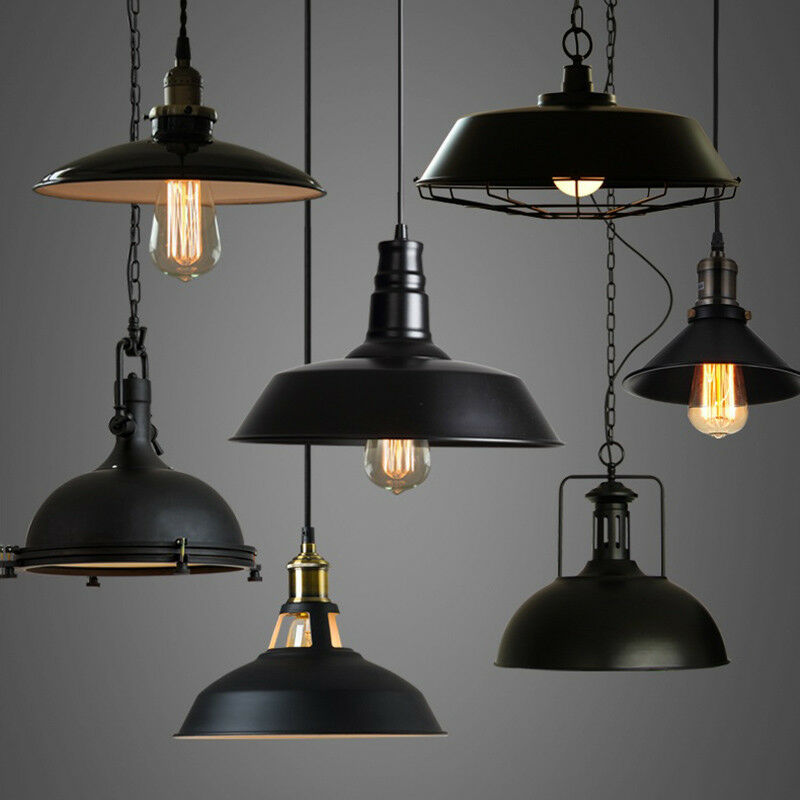 Industrial Hanging Lights Industrial Loft Warehouse Barn Pendant Lamp Indoor Hanging