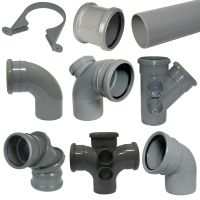 """""""FLOPLAST"""" 110mm Grey Soil Pipe and Fittings 