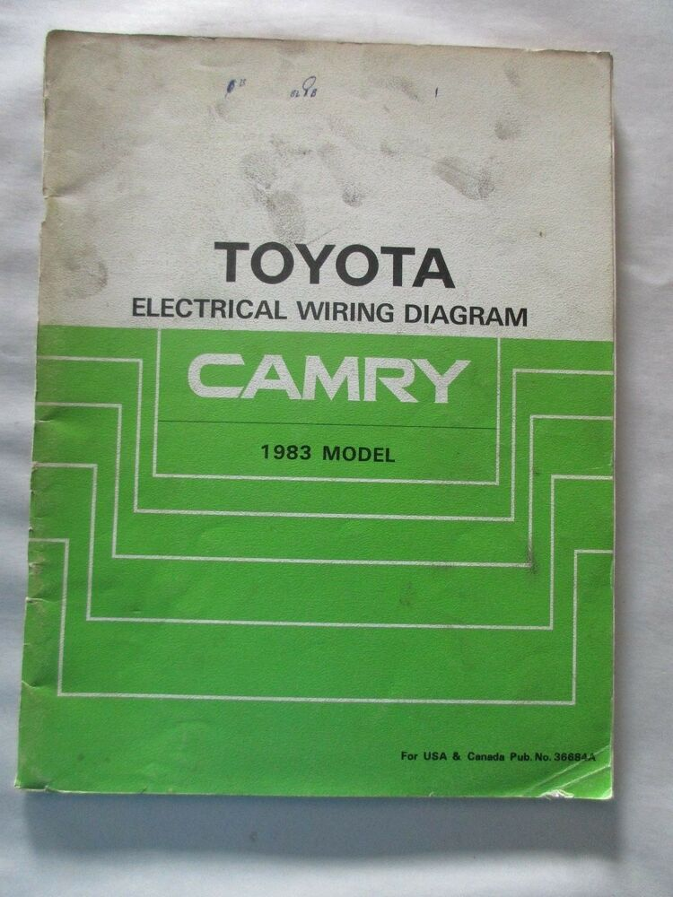 1983 TOYOTA CAMRY ELECTRICAL WIRING DIAGRAM MANUAL eBay