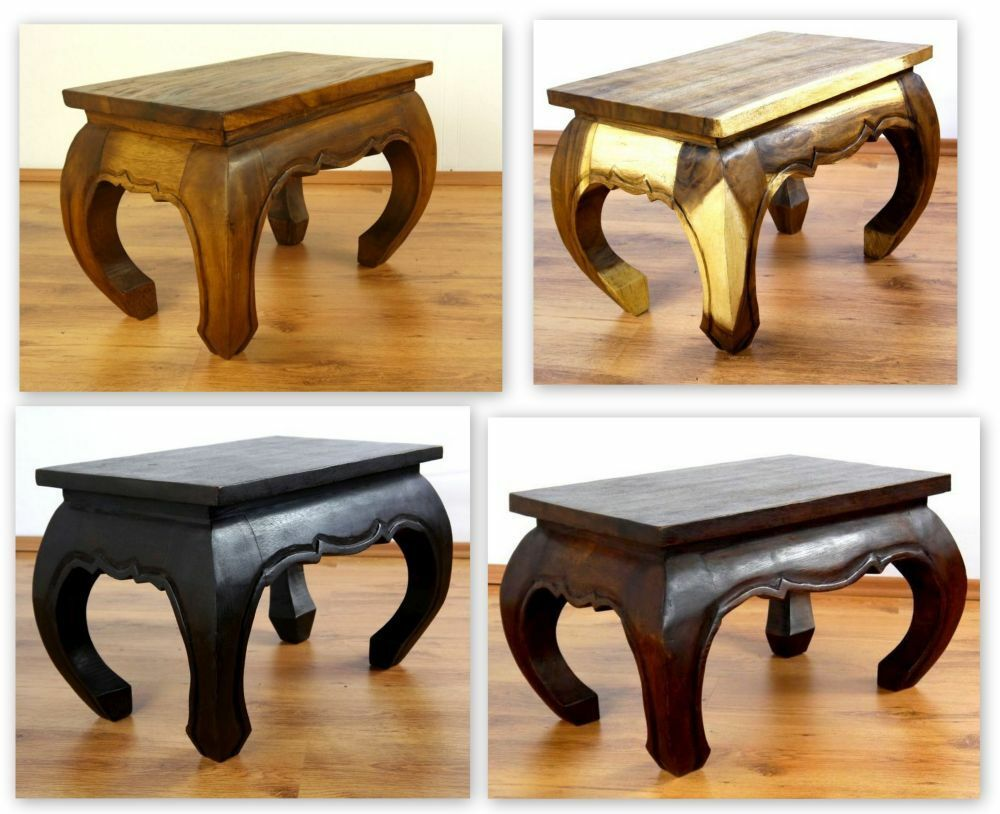 Couchtisch Asia Style Asian Opium Table Small Coffee Table Handmade Thailand 58cm X 38cm Ebay