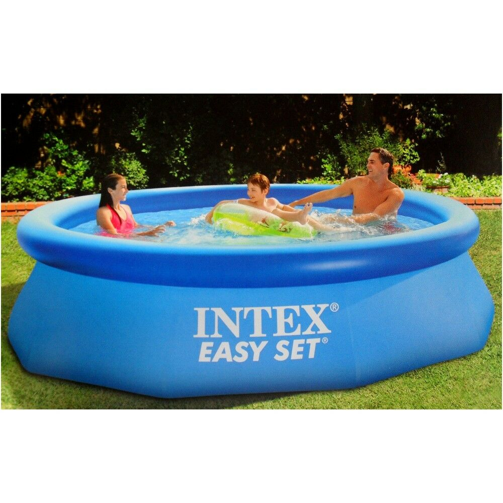 Intex Pool Nicht Rund Intex Swimming Pool Easy Set 244 X 76 Cm 28112np Ebay