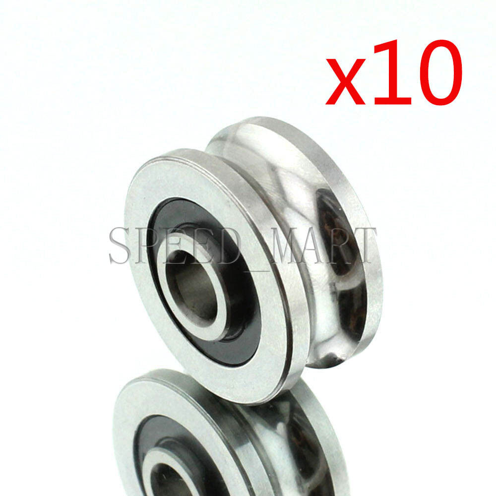 Bearing Machine 10pcs Sg20 U Groove 6 24 11mm Sealed Ball Track Guide Bearing Textile Machine Ebay