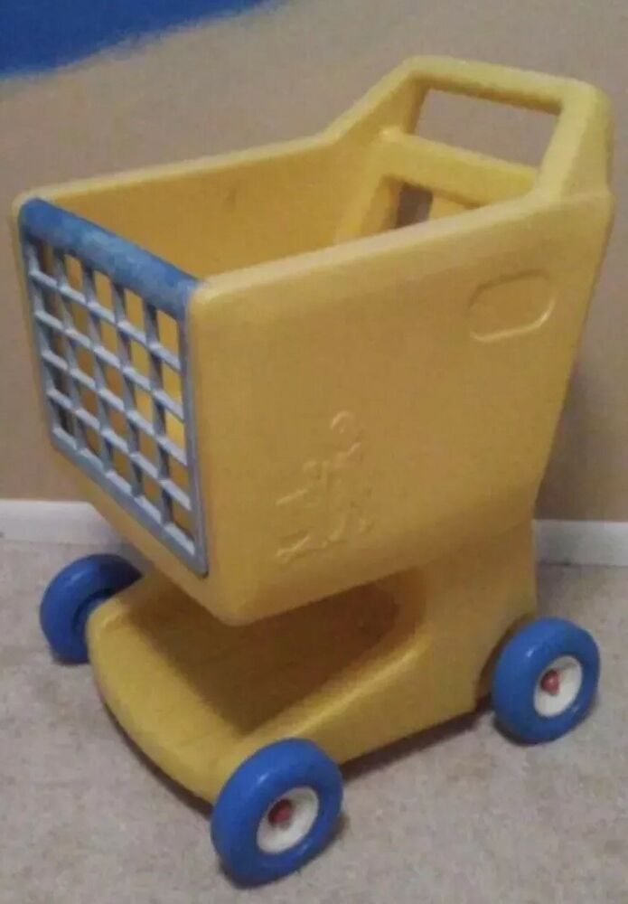 Toy Buggy Ebay Vtg Yellow Toy Shopping Cart Toy Buggy Grocery Toddler