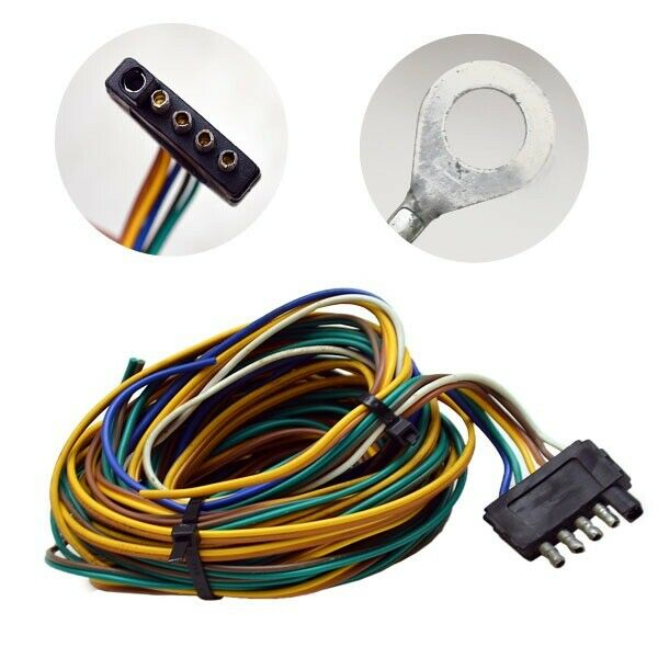 Standard 25 Ft Boat Trailer Wiring Harness (5 Prong) eBay