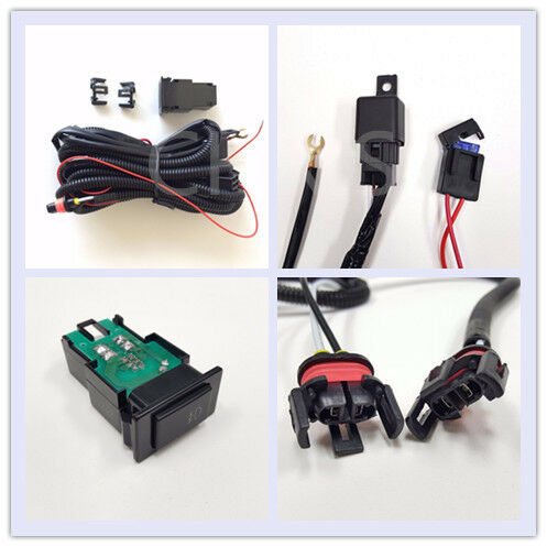 2 Plugs Wire 12V 30A Fog Light Wiring Harness Relay Kit ON/OFF