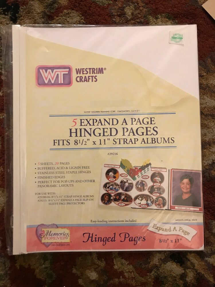 Westrim Crafts 85x11 White Scrapbook Pages Package 5 expand a page