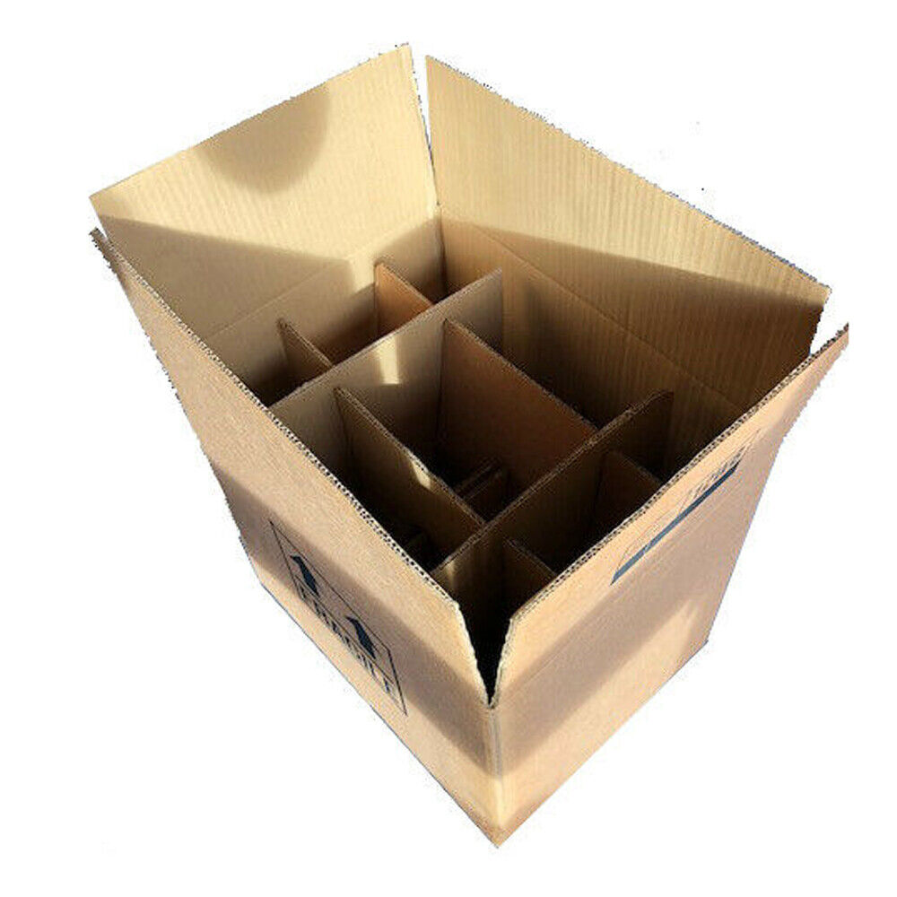 Cardboard Box Dividers 12 Wine Bottle Strong Cardboard Box With Inserts Bundle Ebay