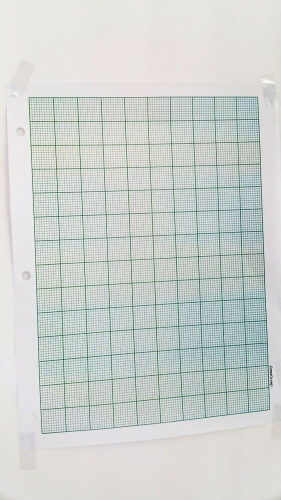 JOMA Graph Paper 2mm Grid Sheets 261mm x 183mm (50Pages) green 1 pt
