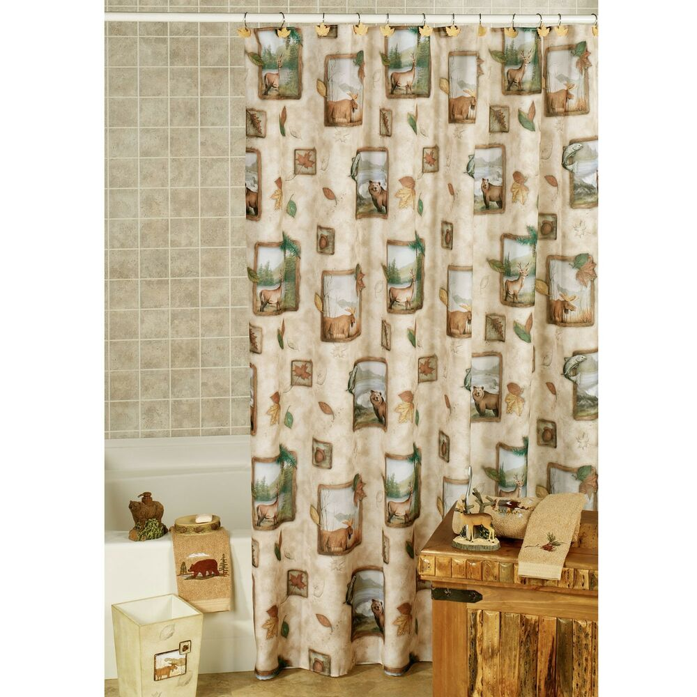 Cheap Rustic Shower Curtains Northwoods By Saturday Knight Fabric Shower Curtain 70 By 72 New Ebay