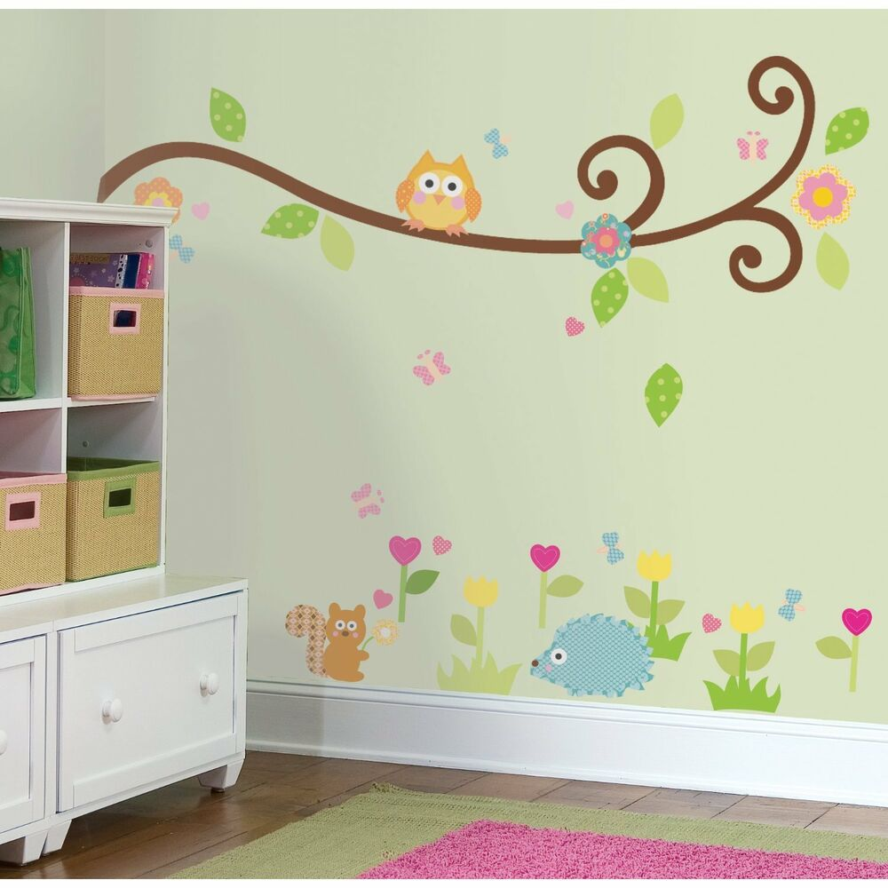 Scroll Branch 65 Big Wall Stickers Tree Flowers Animal