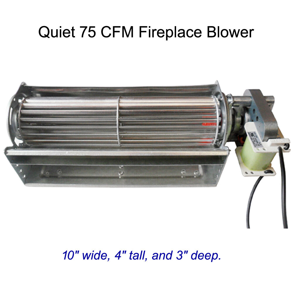 Fireplace Insert Blower Fan Heat Surge New Quiet 75 Cfm Fireplace Blower Stove Fireplace Insert Squirrel Fan 609224592836 Ebay