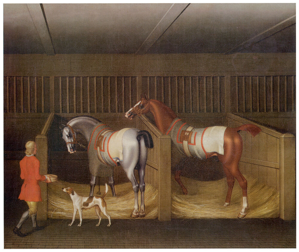 Canvas Hi Beautiful 3d Wallpaper The Stables And Two Famous Running James Seymour Horse