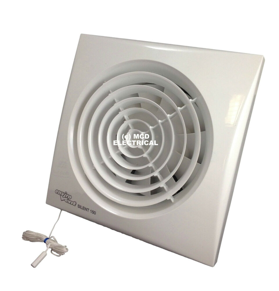 Ventilator Lautlos Envirovent Silent-150p Extractor Fan With Pull Cord For 6