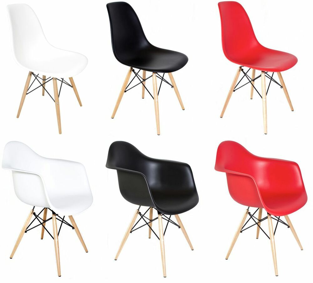 Eames Dsw Set Of 2 Eiffel Molded Plastic Side Dining Chairs Eames Dsw Daw Replica Ebay