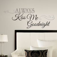 New Large ALWAYS KISS ME GOODNIGHT WALL DECALS Bedroom ...
