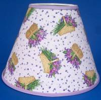 Purple Flowers Basket Lamp Shade Handmade Lampshade