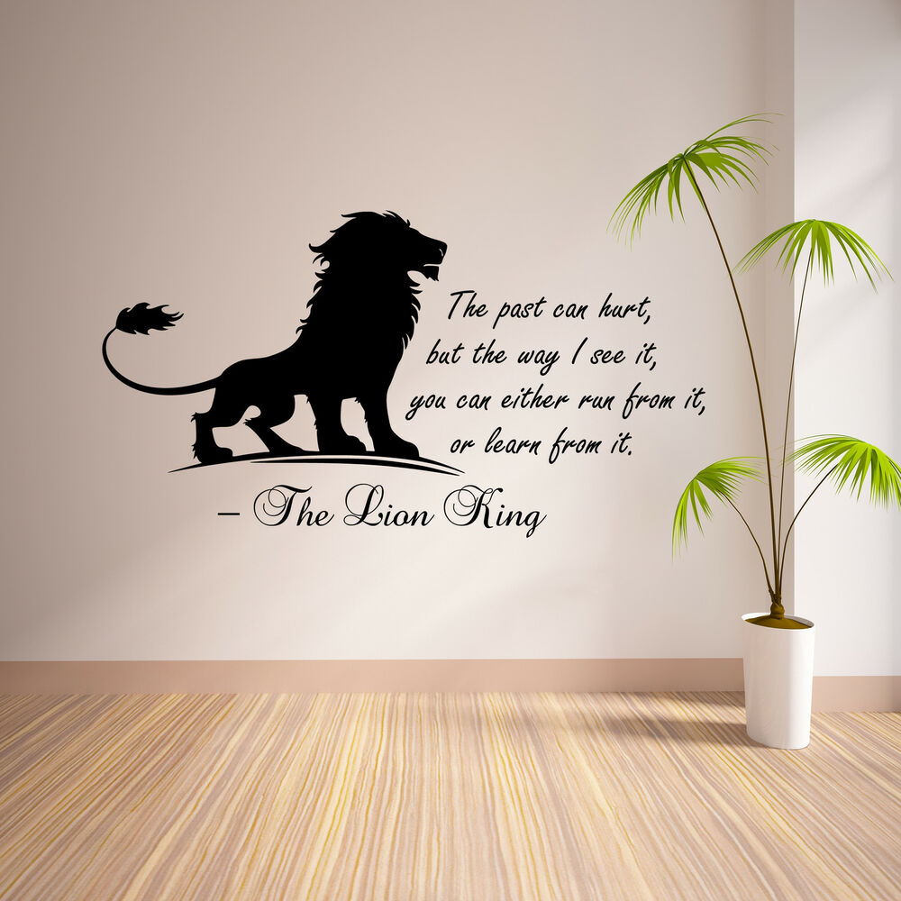The Lion King Inspirational Wall Sticker Bedroom Quote