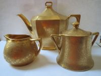 PICKARD GOLD PLATED TEA SET - MADE IN CZECHOSLOVAKIA | eBay