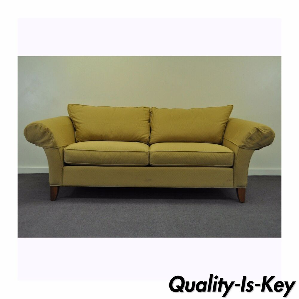 Ebay Sofas Contemporary Ethan Allen Usa Traditional Style Rolled Arm