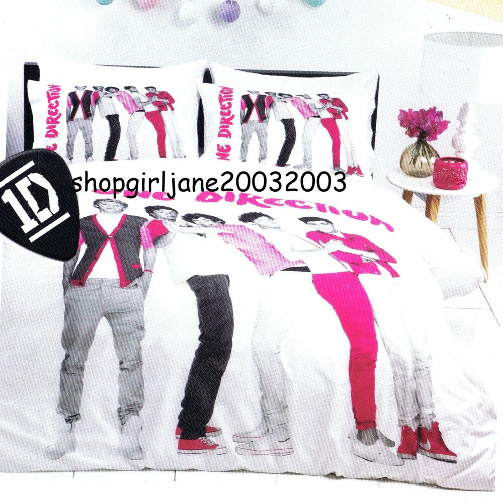 One Direction 1d Pink Single Twin Bed Quilt Doona
