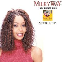 "Shake N Go Milky Way 100% Human Super Bulk 18"" Braiding"