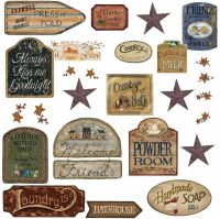 COUNTRY SIGNS 26 BiG Wall Stickers Room Decor Western ...