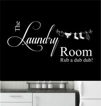 Laundry Room Vinyl Wall Art Sticker, Decal, Mural, Kitchen ...