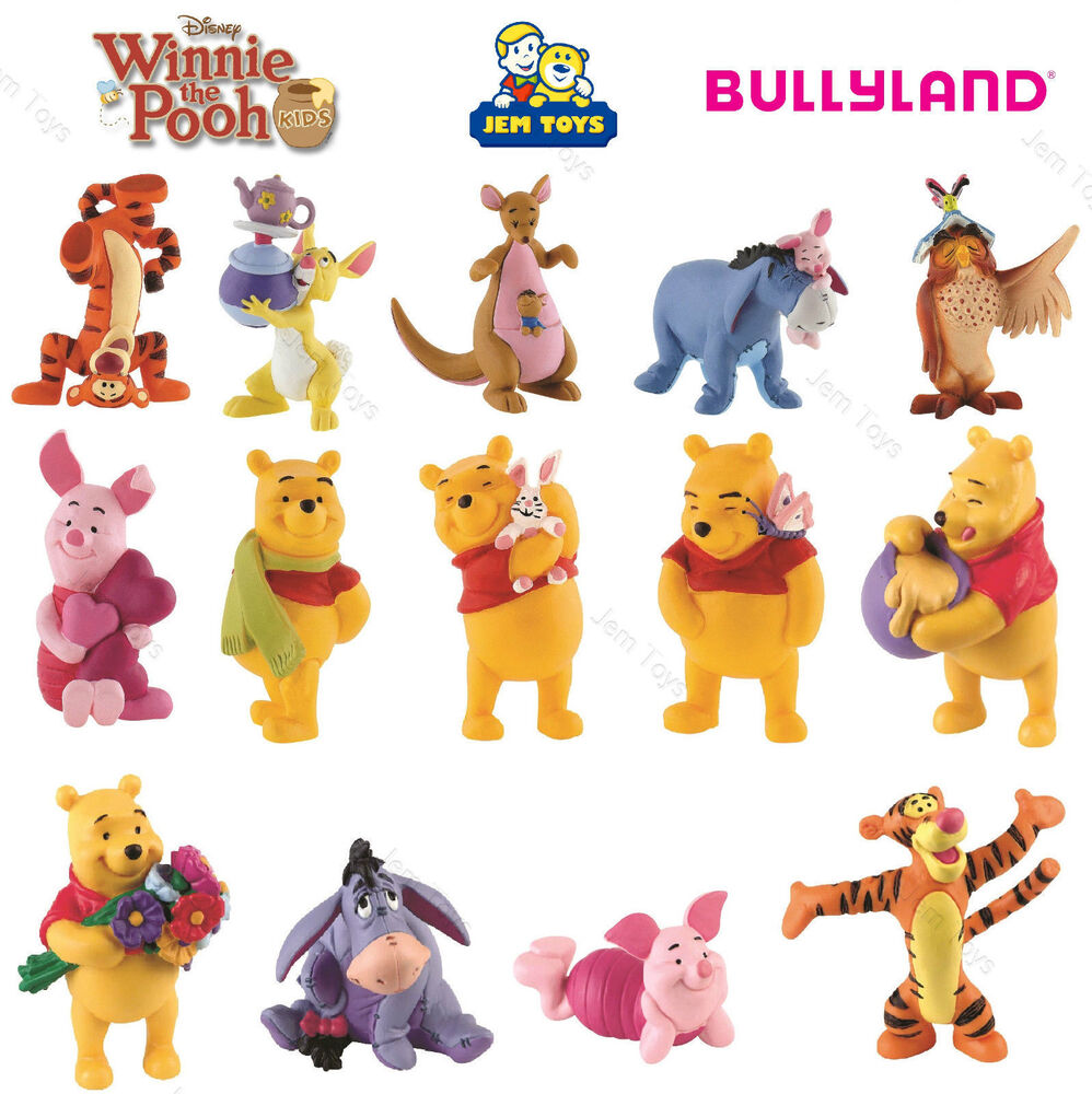 Disney Winnie The Pooh Figures Toy Cake Toppers Bullyland