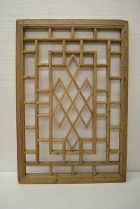Chinese Antique Wood Carving Panel Window Shutter Wall Art ...