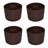 """1 1/2"""" HDPE Round Plastic Brown Legs Screw Sofa/Couch ..."""