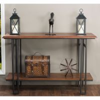 Newcastle Wood and Metal Console Table Furniture Living ...