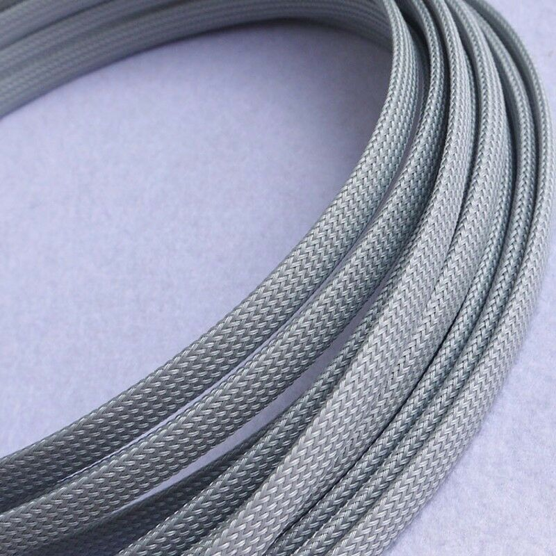 Sleeving Cable 5 Meters X 12MM Silver grey Tube PET Expandable