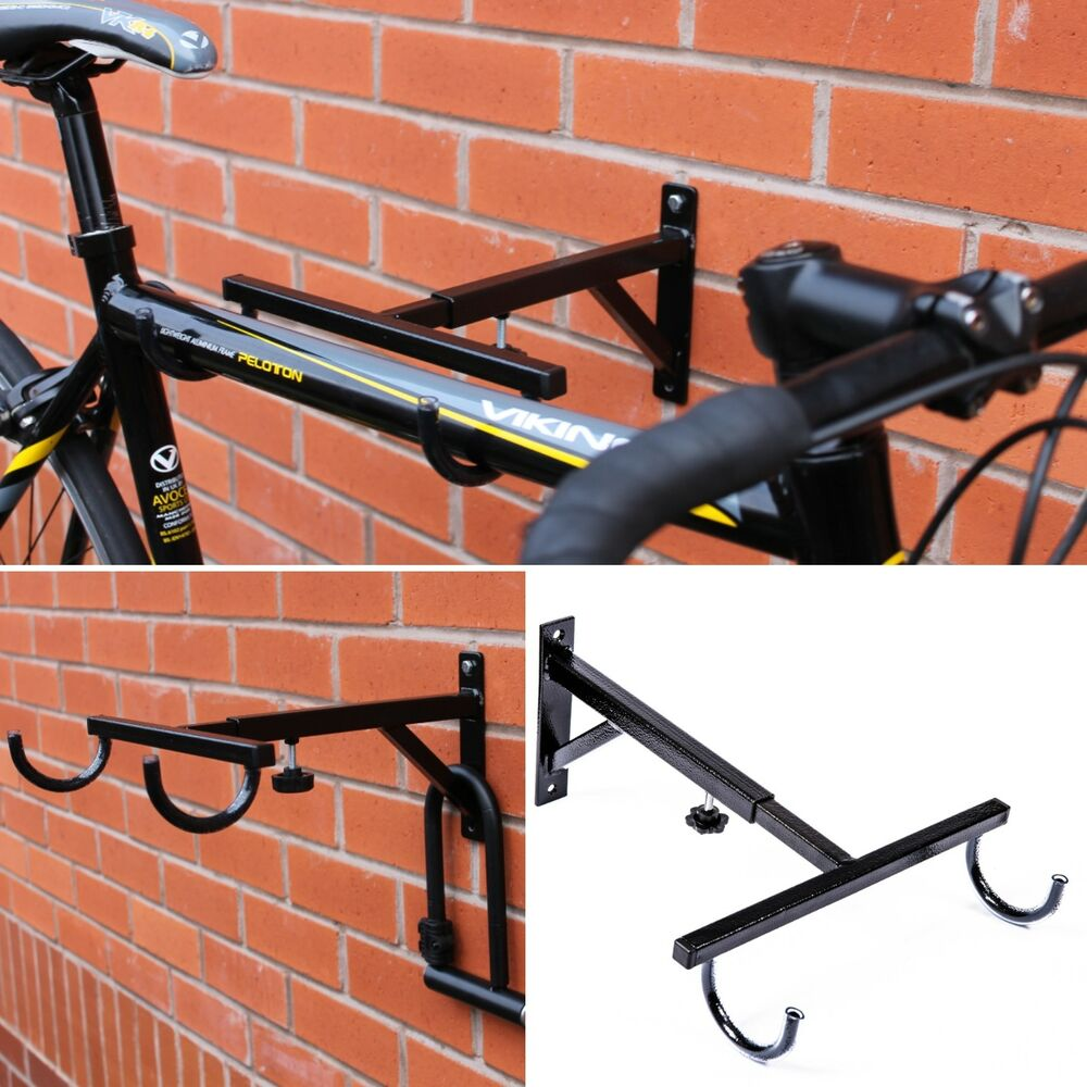Adjustable Secure Bike Hook Storage Rack Wall Mounted