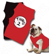 Dr Seuss Thing 1 Dog t-shirt Thing 2 dog's shirt pet ...
