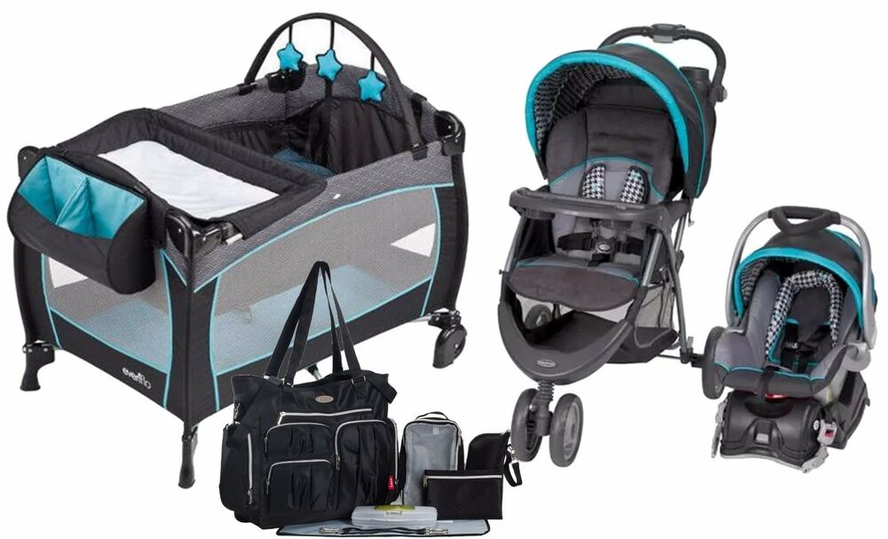 Baby Trend Stroller With Car Seat Travel System Evenflo
