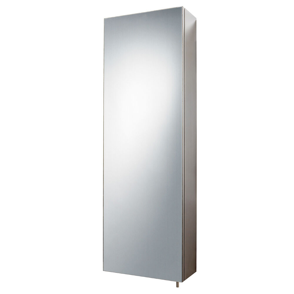 Tall Bathroom Cabinet With Mirror Stainless Steel Bathroom Cabinet Mirror Tall Single Door Wall Storage Cupboard Ebay