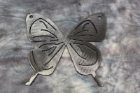 "Small Butterfly 5"" Metal Wall Art Decor Silver 