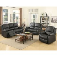 3 Set Sofa Loveseat Chaise Couch Recliner Leather Living