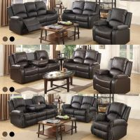 Sofa Set Loveseat Couch Recliner Leather 3+2+1 Seater ...
