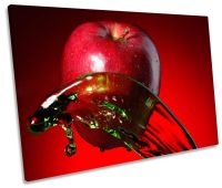 Apple Fruit Kitchen Splash SINGLE CANVAS WALL ART Picture ...