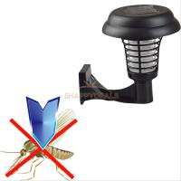 Solar Powered UV Garden LED Light Lamp Mosquito Insect ...