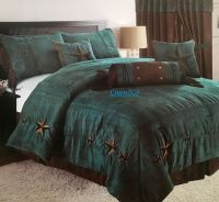 Rustic Turquoise Embroidery Texas Star Western Luxury ...
