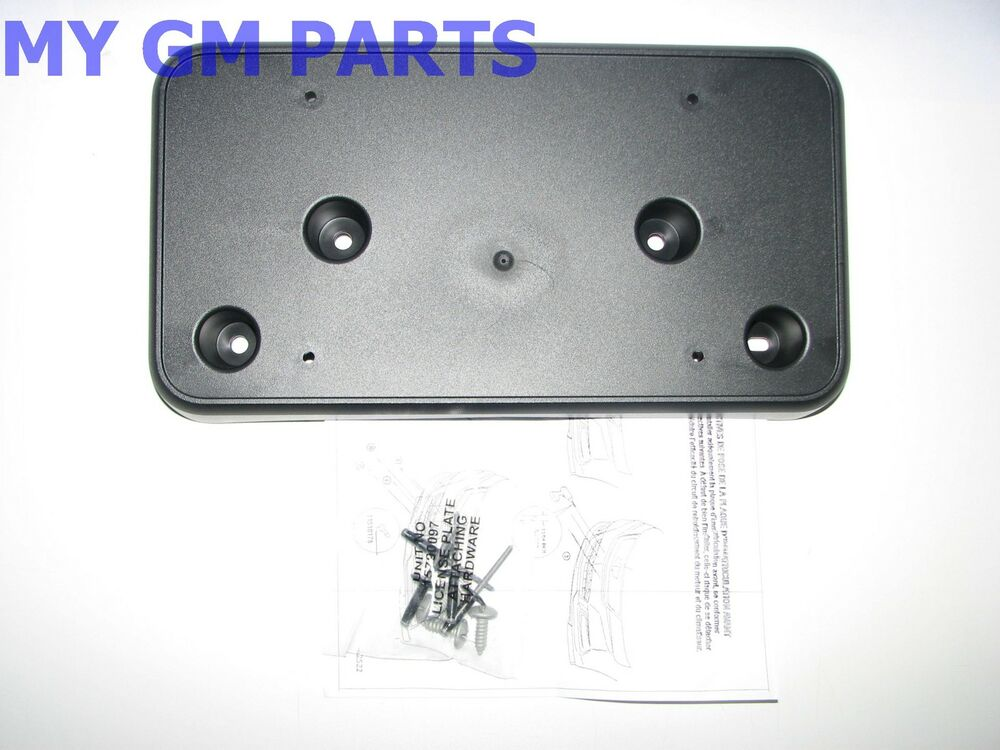 Impala Front License Plate Holder Mounting Bracket 2014