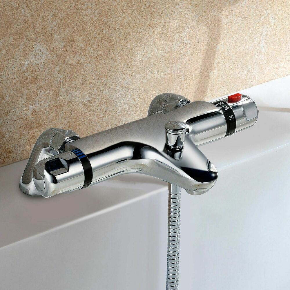 Rubinetto Doccia Termostatico Bexley Bathroom Modern Chrome Deck Mounted Thermostatic Bath Shower Mixer Tap Ebay