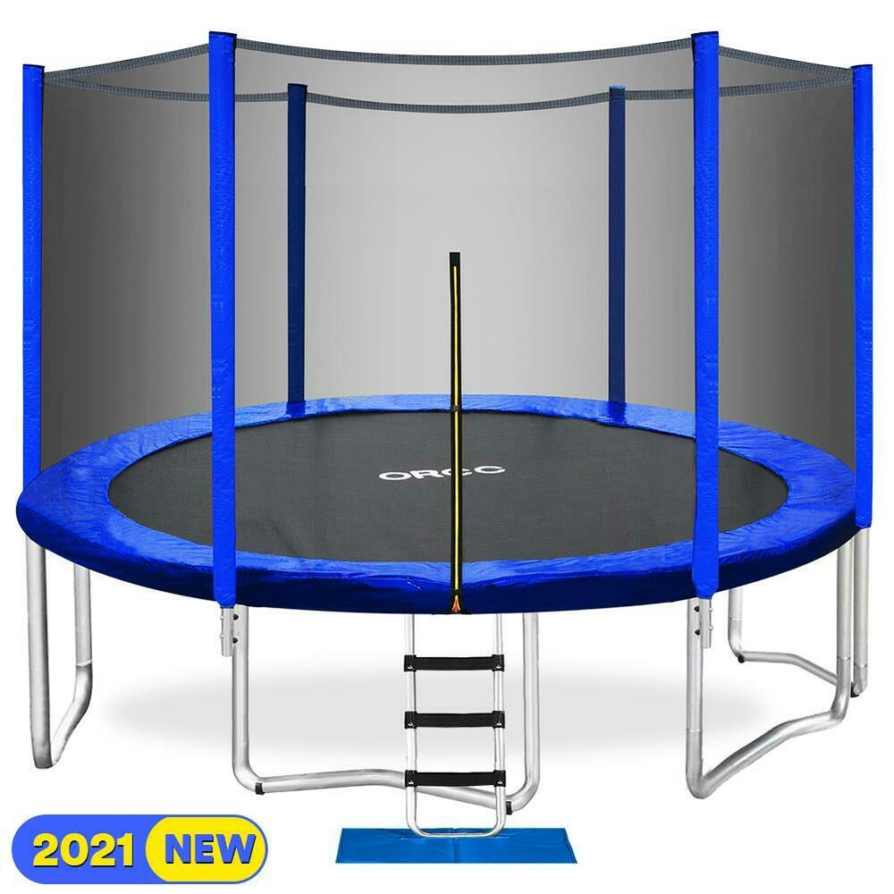 Trampolin 3 5 Meter Orcc 2020 Upgrade 15ft Trampoline With Enclosure Net Pad Ladder Lawn Stakes New 6970385926568 Ebay