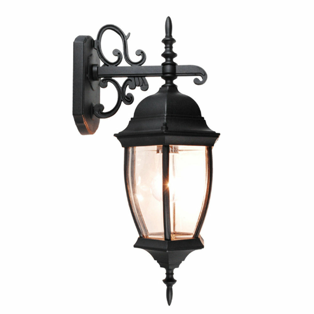 Laterne Außen Outdoor Exterior Lantern Wall Light Lighting Fixture Black