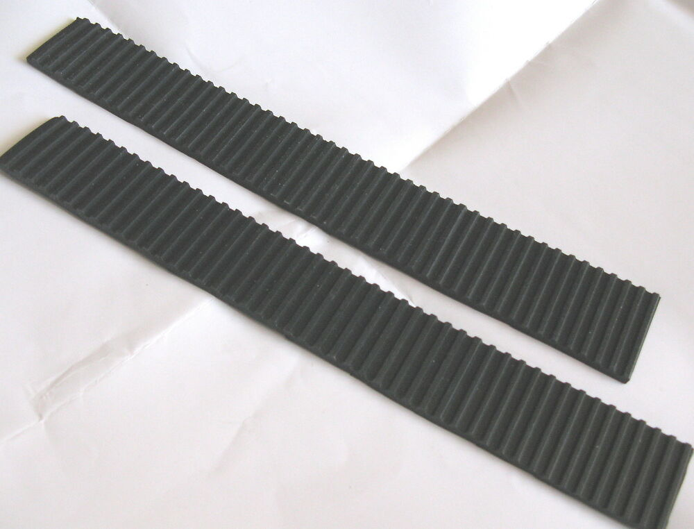 2x Ribbed Grooved Antivibration Rubber Strip Neoprene 25 X - Trap Strips Rubber Gamma